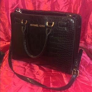 Beautiful Michael  Kors faux🐊 croc black leather